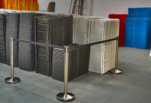 Tensa Barriers at Warehouse